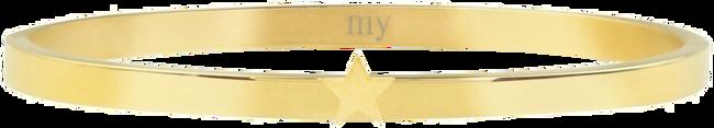 Goldfarbene MY JEWELLERY Armband STAR BANGLE - large