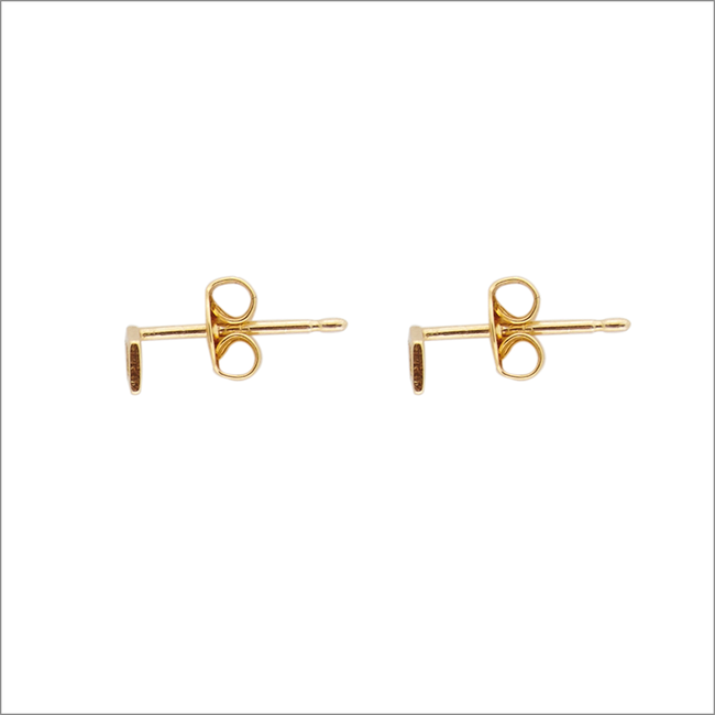 Goldfarbene ALLTHELUCKINTHEWORLD Ohrringe PETITE EARRINGS RHOMB - large