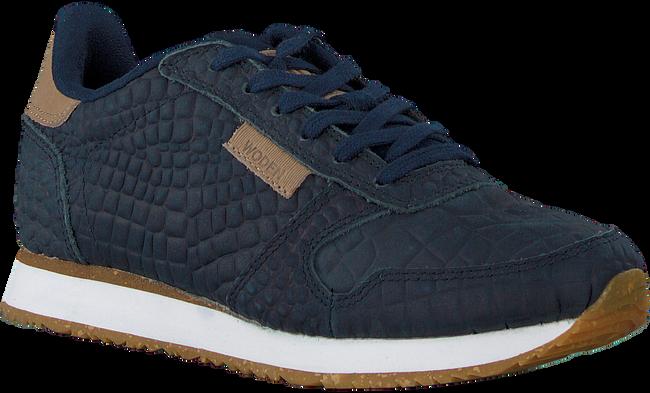 Blaue WODEN Sneaker low YDUN CROCO  - large