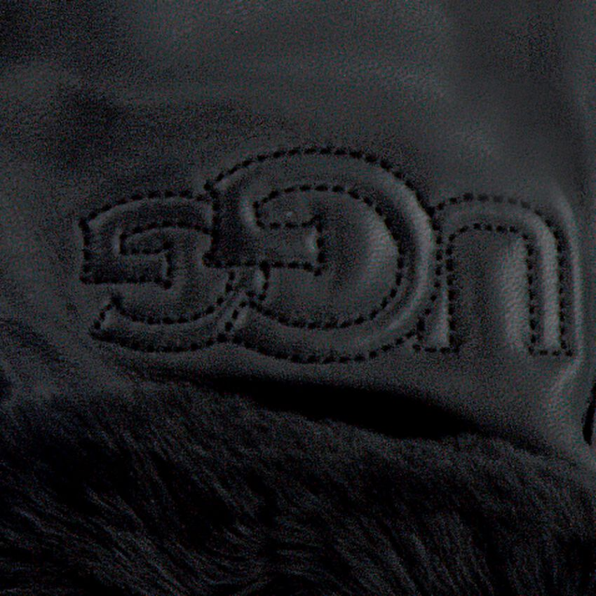 Schwarze UGG Handschuhe CLASSIC LOGO GLOVE  - larger