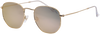Goldfarbene IKKI Sonnenbrille LA PORTE - small