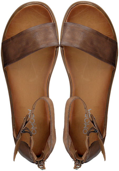 Cognacfarbene OMODA Sandalen M05060  - large