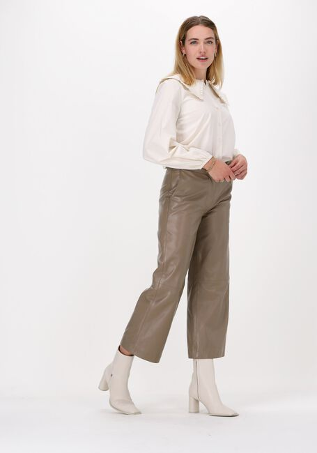 Beige JUST FEMALE Hose ROXY LEATHER TROUSERS - large