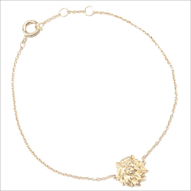 Goldfarbene ALLTHELUCKINTHEWORLD Armband SOUVENIR BRACELET LION - large