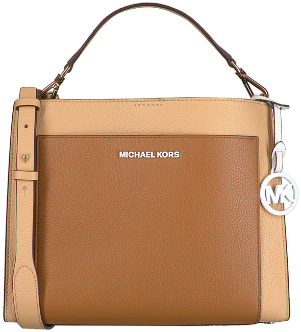 Camelfarbene MICHAEL KORS Handtasche GEMMA MD POCKET TH SATCHEL  - large