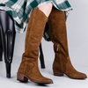 Cognacfarbene NOTRE-V Hohe Stiefel BY6205X  - small