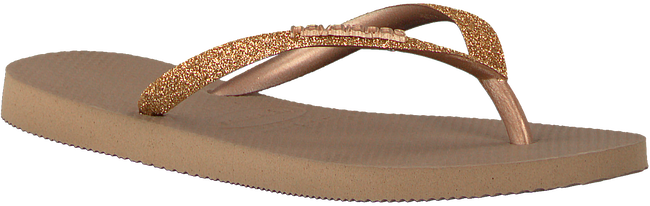 Goldfarbene HAVAIANAS Pantolette SLIM GLITTER  - large