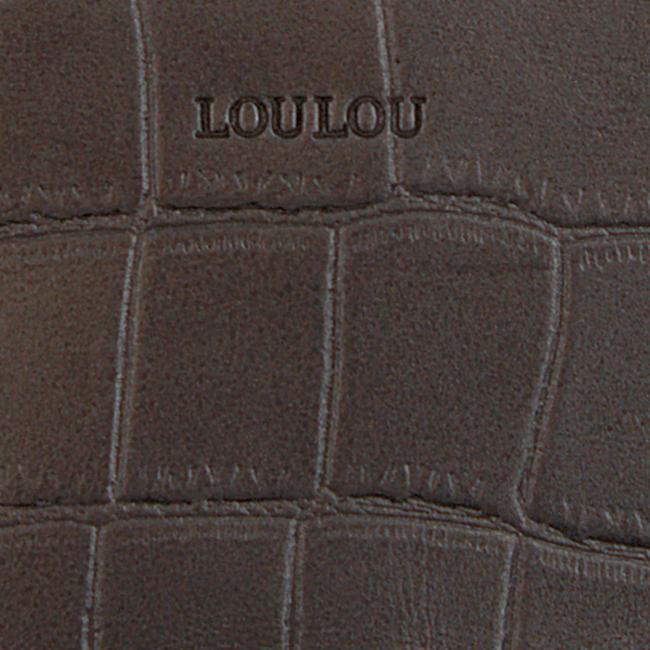 Graue BY LOULOU Portemonnaie SHINY CROCO - large