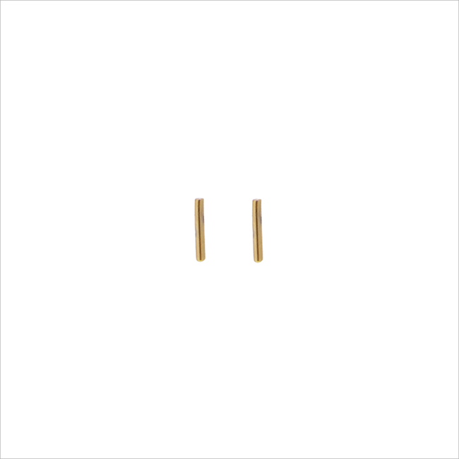 Goldfarbene ALLTHELUCKINTHEWORLD Ohrringe PETITE EARRINGS MINI STRIP - large