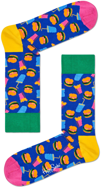 HAPPY SOCKS Socken HAMBURGER - large