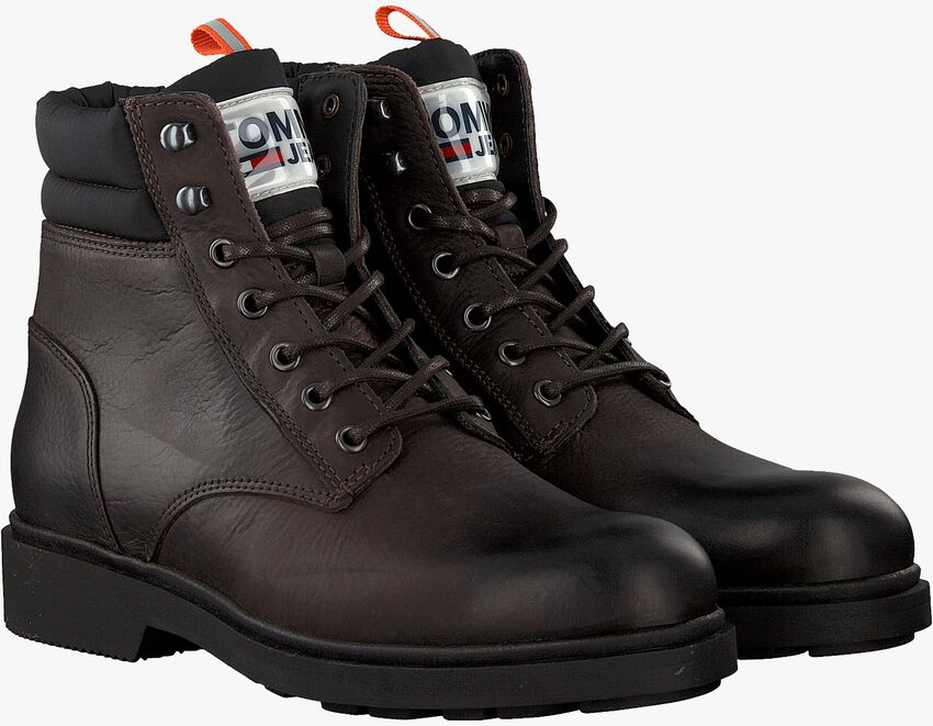 Braune TOMMY HILFIGER Schnürboots CASUAL BOOT  - larger