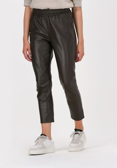 Braune CO'COUTURE Hose SHILOH CROP LEATHER PANT  - large