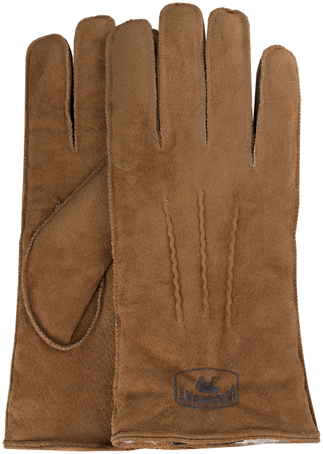 Cognacfarbene WARMBAT Handschuhe GLOVES WOMEN SUEDE - large