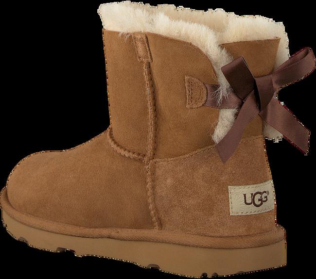 Cognacfarbene UGG Ankle Boots MINI BAILEY BOW II KIDS - large