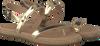 Goldfarbene UGG Zehentrenner BRYLEE - small