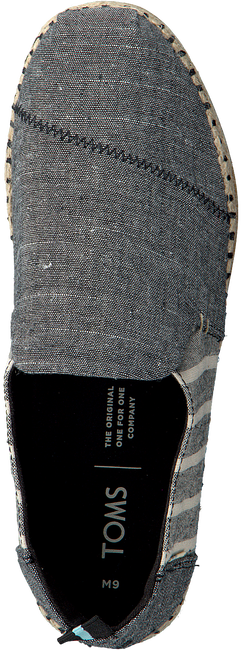 Schwarze TOMS Espadrilles DECONSTRUCTED ALPARGATA ROPE  - large