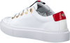 Weiße TOMMY HILFIGER Sneaker low LEATHER ELEVATED TOMMY  - small