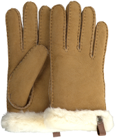 Camelfarbene UGG Handschuhe SHORTY GLOVE W/TRIM  - medium
