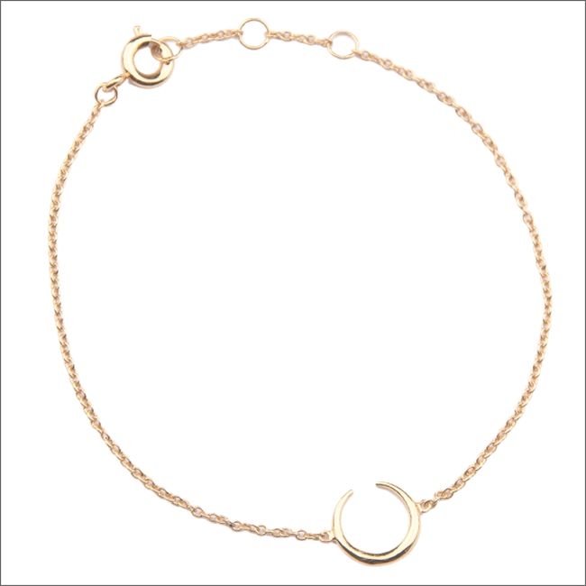 Goldfarbene ALLTHELUCKINTHEWORLD Armband SOUVENIR BRACELET HORN - large