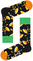 Schwarze HAPPY SOCKS Socken MAC & CHEESE  - medium