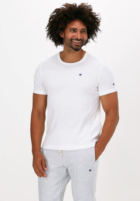 Weiße CHAMPION T-shirt SMALL C LOGO T-SHIRT - large