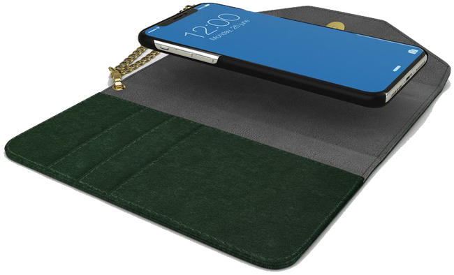 Grüne IDEAL OF SWEDEN Handy-Schutzhülle CLUTCH VELVET IPHONE8/7/6/6SPL - large