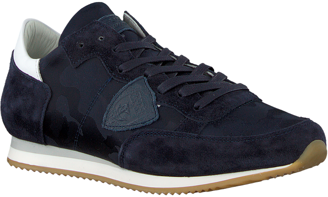 Blaue PHILIPPE MODEL Sneaker TROPEZ CAMOUFLAGE  - large