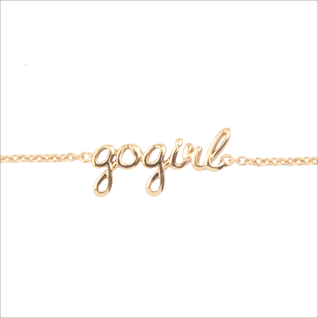 Goldfarbene ALLTHELUCKINTHEWORLD Armband URBAN BRACELET GOGIRL - large