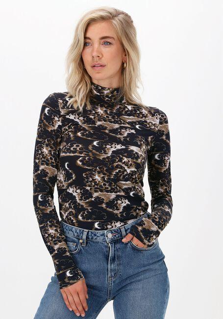 Braune SCOTCH & SODA T-shirt PRINTED LONG-SLEEVED HIGH NECK  - large