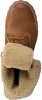 Cognacfarbene TIMBERLAND Ankle Boots 6IN WP SHEARLING BOOT - small