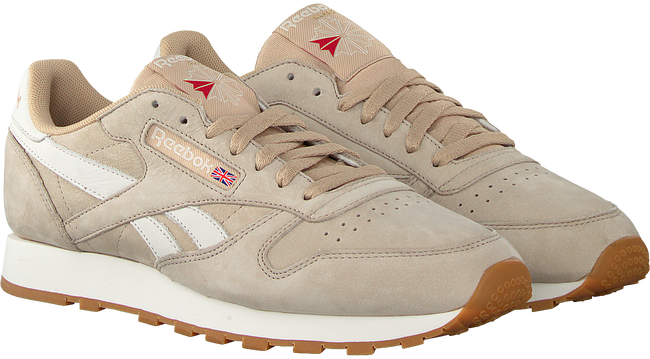 Beige REEBOK Sneaker CL LEATHER TL MEN - large