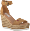 Cognacfarbene TOMMY HILFIGER Sandalen NATURAL WEDGE  - small