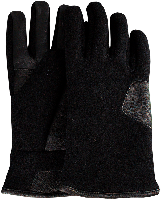 Schwarze UGG Handschuhe FABRIC AND LEATHER GLOVE - large