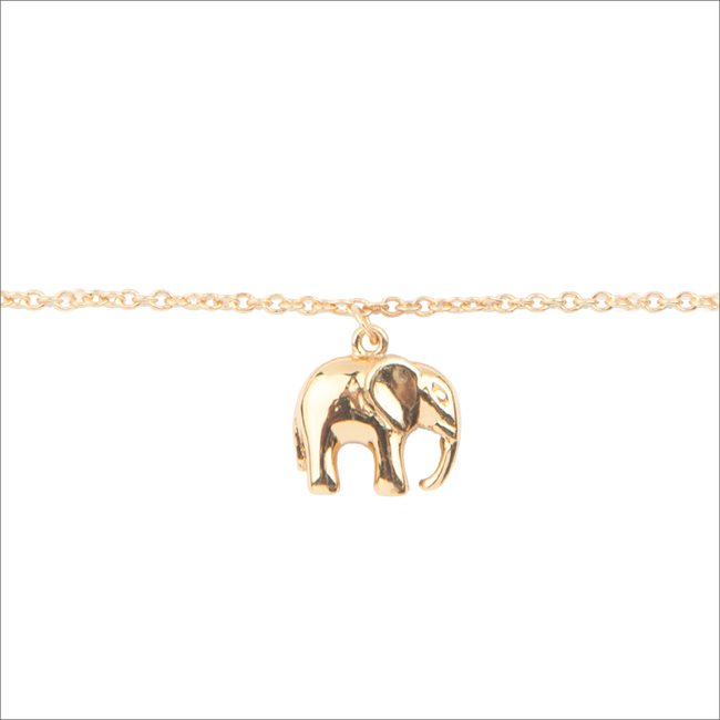Goldfarbene ALLTHELUCKINTHEWORLD Armband SOUVENIR BRACELET ELEPHANT - large