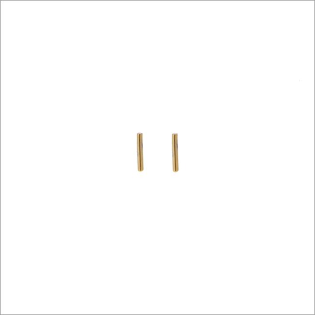 Goldfarbene ALLTHELUCKINTHEWORLD Ohrringe PETITE EARRINGS STRIP - large