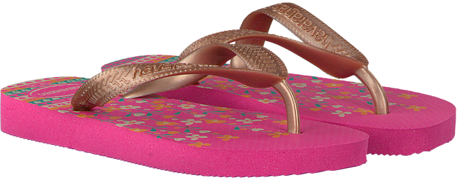 pink HAVAIANAS shoe FLORES KIDS  - large