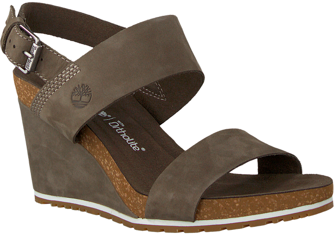 Grüne TIMBERLAND Sandalen CAPRI SUNSET WEDGE - large