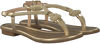 Goldfarbene MICHAEL KORS Sandalen HOLLY SANDAL - small