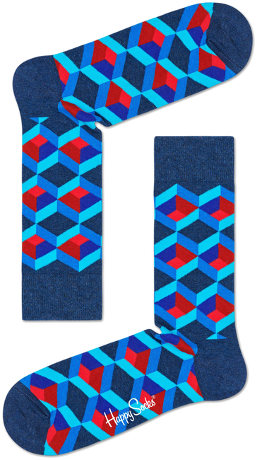 Blaue HAPPY SOCKS Socken OPTIC SQUERE - large