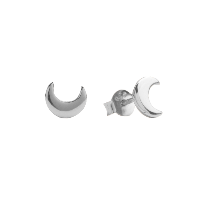 Silberne ALLTHELUCKINTHEWORLD Ohrringe PARADE EARRINGS MOON - large