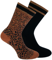 Braune XPOOOS Socken BELLA  - medium