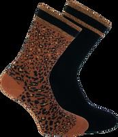 Braune XPOOOS Socken BELLA  - medium