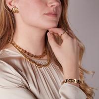 Goldfarbene NOTRE-V Armband ARMBAND SCHAKEL #4  - medium