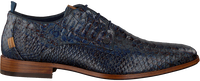 Blaue REHAB Business Schuhe GREG SNAKE FANTASY  - medium