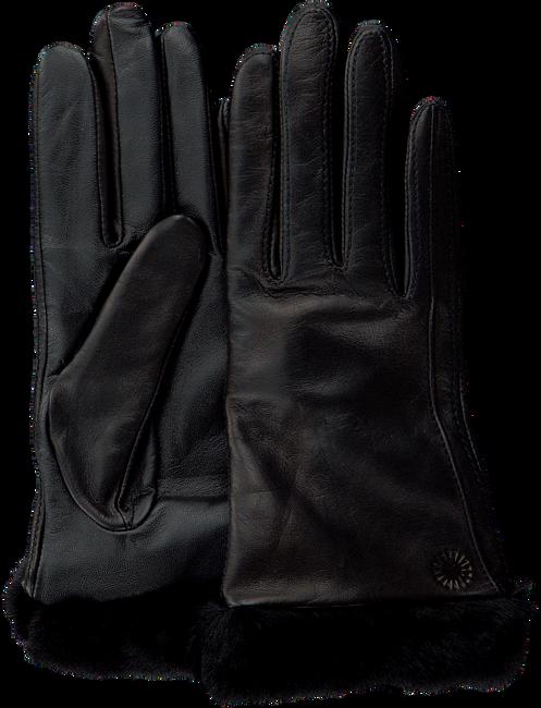 Schwarze UGG Handschuhe CLASSIC LEATHER SMART GLOVE - large