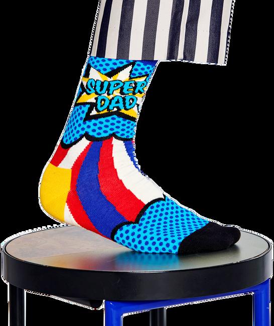 Blaue HAPPY SOCKS Socken SUPER DAD  - large