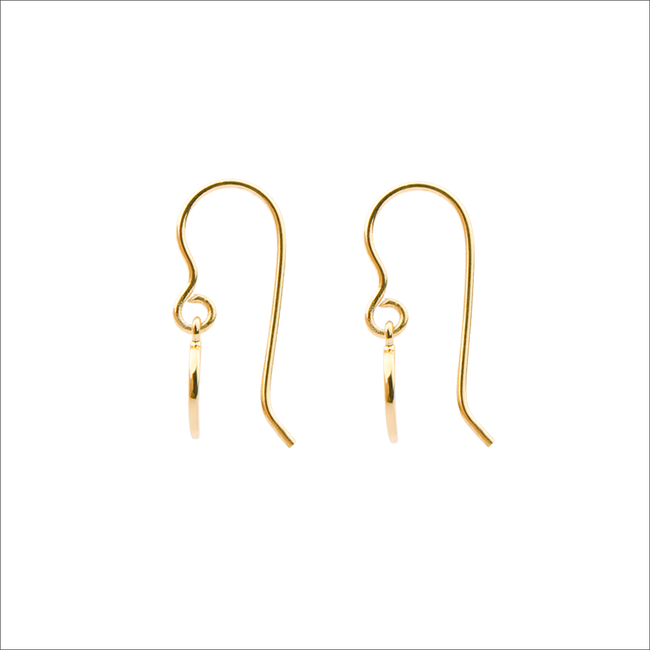 Goldfarbene ALLTHELUCKINTHEWORLD Ohrringe CHARACTER EARRINGS LETTER - large