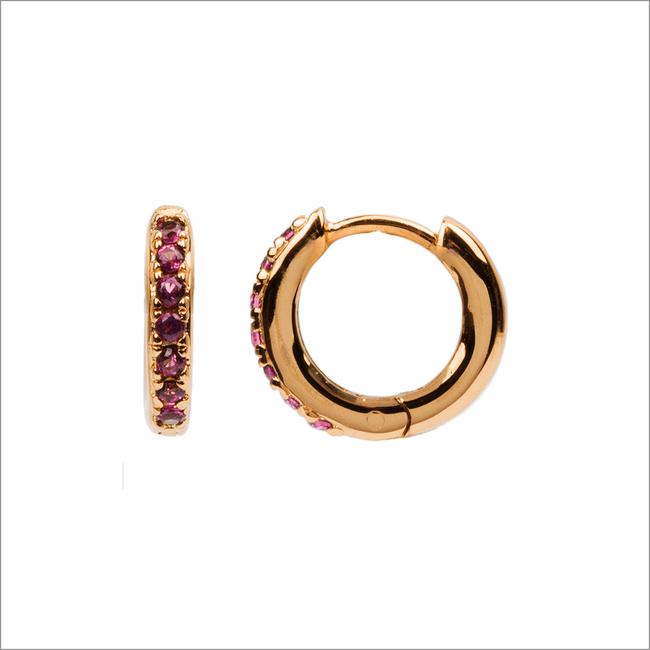Goldfarbene ATLITW STUDIO Ohrringe BLISS EARRINGS CREOLE PINK RUB  - large