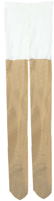 Goldfarbene LE BIG Socken GLITTER TIGHT - large