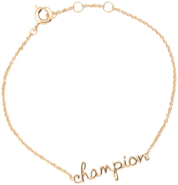 Goldfarbene ALLTHELUCKINTHEWORLD Armband URBAN BRACELET CHAMPION - large